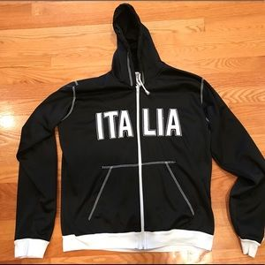 Tops - Italia Black Hooded Jacket